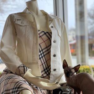 Burberry white denim jacket